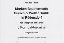 Somfy io Kompaktseminar 2017 - Hr. Gürlich